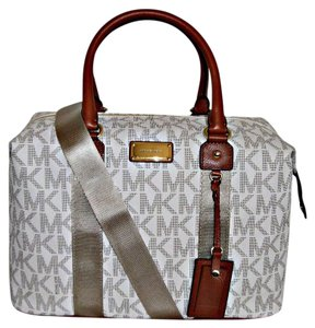 Michael Kors Travel Duffle Tote Weekender Travel Vanilla Travel Bag
