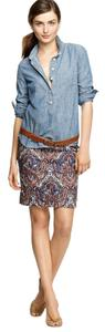 J.Crew Skirt Blue Orange