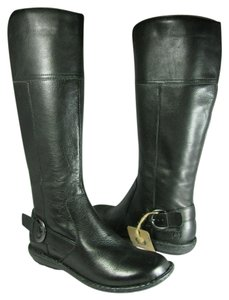 Brn Brown Tall Flat black Boots