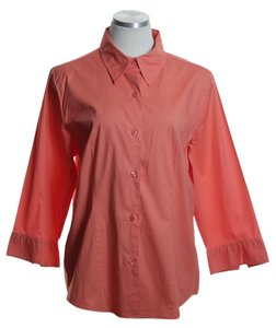 Chadwicks Button Down Shirt Orange