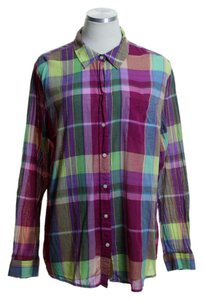 Old Navy Button Down Shirt Multicolor
