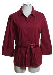 Antilia Femme Button Down Shirt Red