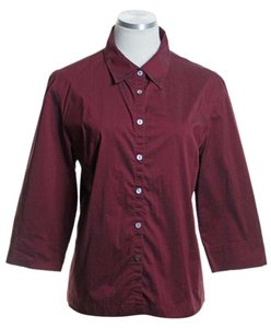 Valerie Stevens Button Down Shirt Red