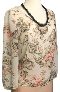 Poetry Top Beigh Pink Brown