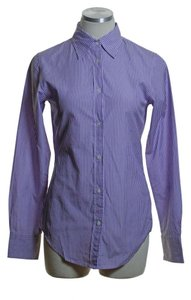 Gap Button Down Shirt Purple