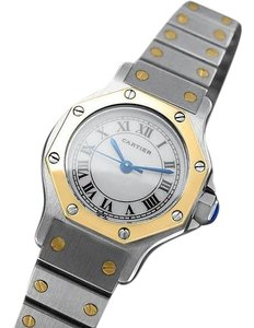 Cartier Cartier Santos Octagon Ladies Watch, Automatic - SS & 18K Gold