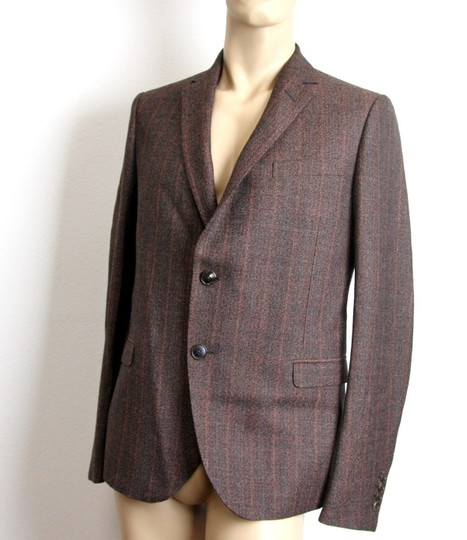Gucci Brown New Men's Wool Suit Coat Jacket Blazer 50r/ Us 40r #296852 Groomsman Gift Image 1