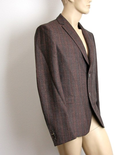 Gucci Brown New Men's Wool Suit Coat Jacket Blazer 50r/ Us 40r #296852 Groomsman Gift Image 2