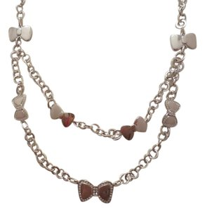 Folli Follie Folli Follie Silver Bow Layered Necklace