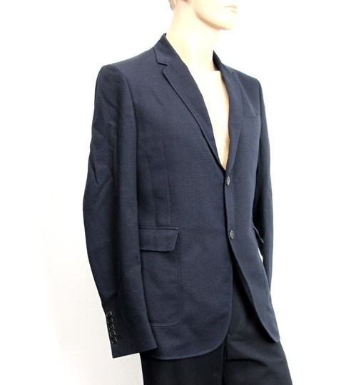 Gucci Navy New Men's Wool/Cotton Jacket Blazer Eu 50/ Us 40 268799 Groomsman Gift Image 2