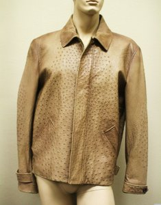Gucci Brown Rare Runway Men's Ostrich Coat Jacket Eu 60 Us 50 246652 2383 Groomsman Gift