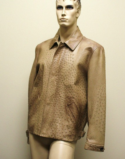Gucci Brown Rare Runway Men's Ostrich Coat Jacket Eu 60 Us 50 246652 2383 Groomsman Gift Image 1