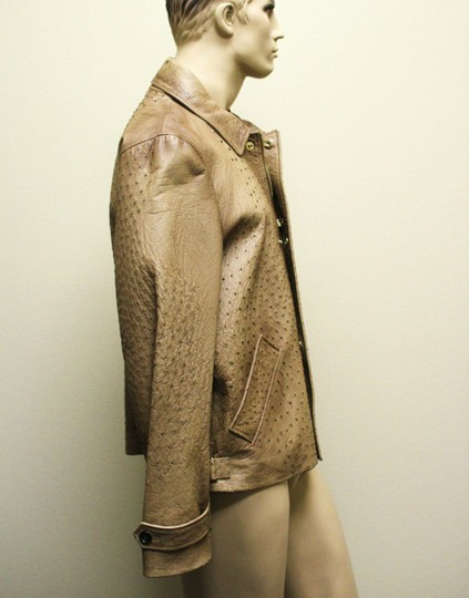Gucci Brown Rare Runway Men's Ostrich Coat Jacket Eu 60 Us 50 246652 2383 Groomsman Gift Image 2