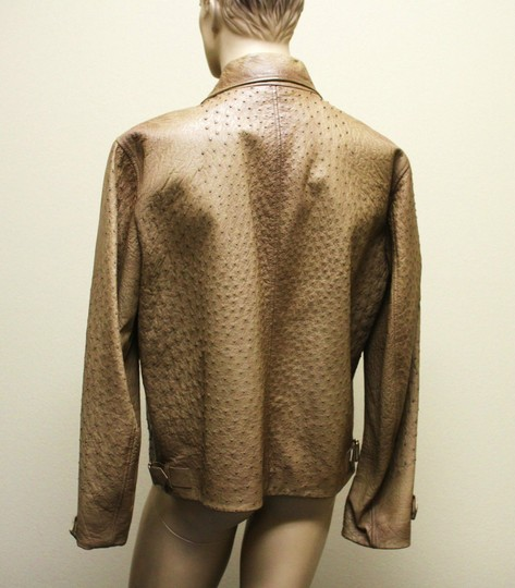 Gucci Brown Rare Runway Men's Ostrich Coat Jacket Eu 60 Us 50 246652 2383 Groomsman Gift Image 3