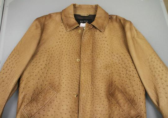 Gucci Brown Rare Runway Men's Ostrich Coat Jacket Eu 60 Us 50 246652 2383 Groomsman Gift Image 4