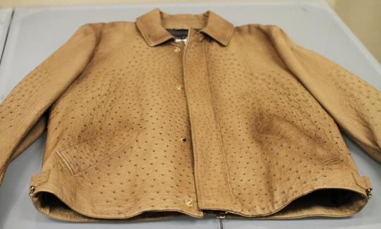 Gucci Brown Rare Runway Men's Ostrich Coat Jacket Eu 60 Us 50 246652 2383 Groomsman Gift Image 5