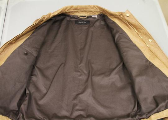 Gucci Brown Rare Runway Men's Ostrich Coat Jacket Eu 60 Us 50 246652 2383 Groomsman Gift Image 6