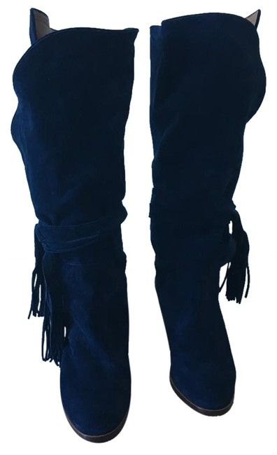 Item - Navy Blue Boots/Booties Size US 8 Regular (M, B)