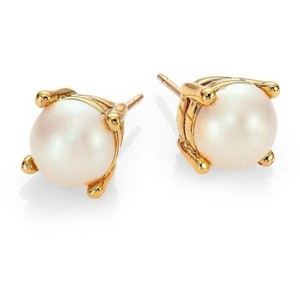 Kate Spade NEW!!! Tags Cream Gold Faux Pearl Stud Earrings