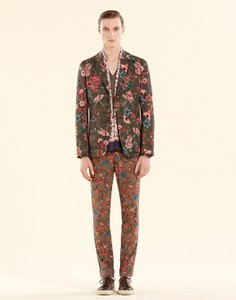 Gucci $1690 New Gucci Men's Flower Print New Palma Eu 48 / Us 38 342328 3079