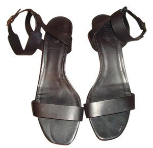 J.Crew Black Leather Sandals