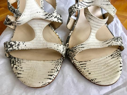 Michael Kors Python Strappy Heel Black and White Sandals Image 2