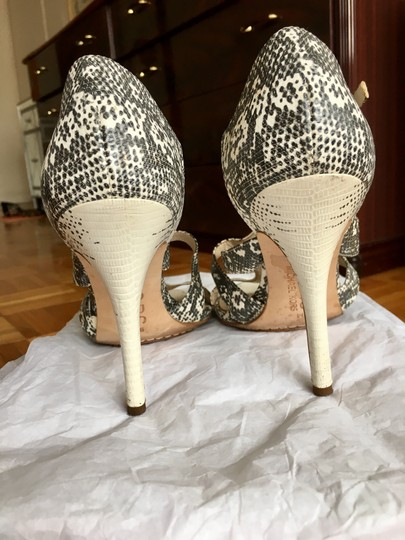 Michael Kors Python Strappy Heel Black and White Sandals Image 3