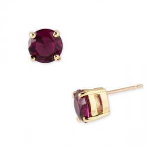 Kate Spade NEW!!! Tags Ruby Gold Stud Round Earrings NWT!