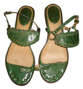 Frye Leather Green Sandals