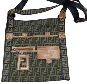 Fendi Black/brown Messenger Bag