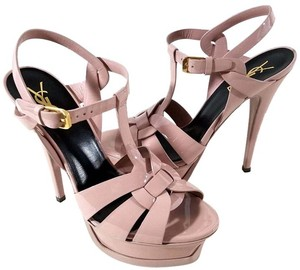 Saint Laurent Adjustable Strap LIGHT DUSTY ROSE Pumps
