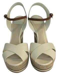 Dior Tan & Ivory Wedges