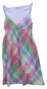Derek Heart short dress plaid pastel Built In Tank Top on Tradesy