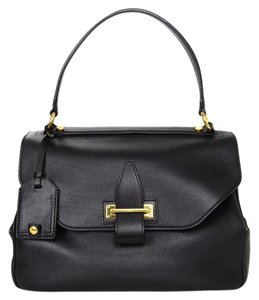 Tom Ford Handle Top Handle Leather Tote in black
