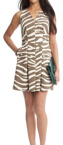 Banana Republic short dress Brown, Ivory, Cream on Tradesy