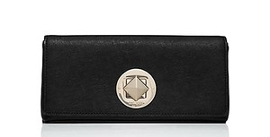 Kate Spade Night Out Date Night Embellished Leather Classic Black Clutch