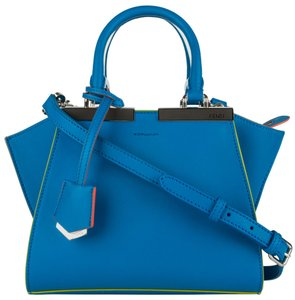 Fendi Limited Edition Shoulder Satchel in Blue