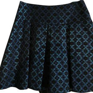 Nanette Lepore Mini Skirt blue/black