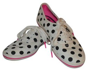 Kate Spade For Keds Keds Gold Trendy Sneakers white/black dot Flats