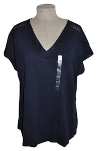 Tommy Hilfiger Casual V-neck Dolman Top blue