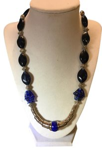 Anna's Art Deep Blue Sea Murano Glass Necklace