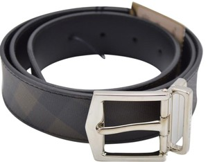 Burberry Burberry Reversible Smoked Check leather Buckle Belt