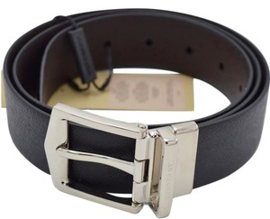 Burberry Mens Burberry Black Brown Reversible London Belt