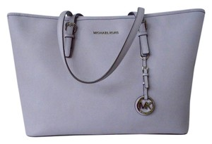 Michael Kors Leather Tote in Lilac