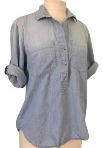 Cloth & Stone Button Down Shirt Blue