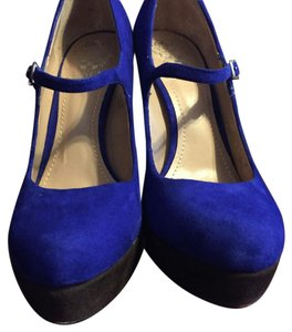 Vince Camuto Blue brown Platforms