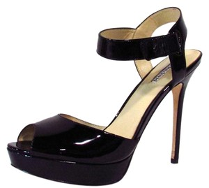 Charles David Ankle Strap Black Pumps