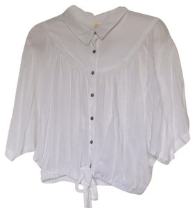 Free People Button Down Shirt White