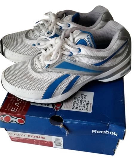 Reebok Easy Tone Easy Tone Sneakers And And White, Grey, & Blue Athletic