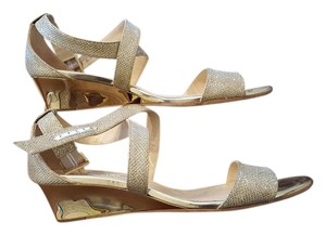 Jimmy Choo Gold Wedge Wedges